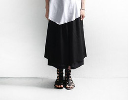 Wholesale Wide Leg Pants Skirt - Men's summer new fashion and personality 7 minutes of pants wide legged loose han edition tide male leisure pants skirt   custom