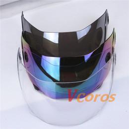 Wholesale Clear Windshield - JIEKAI 105 Modular helmets Windshield glass helmet visor motorbike flip up motorcycle helmet lens clear silver rainbow