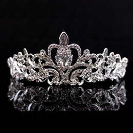 Wholesale Tiara Hens - Bride to Be Bachelorette Party birthday Decoration Gift Wedding Bridal Shower Hen Party Supplies Metal Rhinestone Tiara Crown