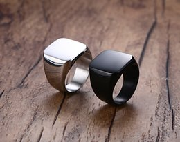 Wholesale Stainless Steel Rings Blanks - Beichong Brand New Fashion Simple 316L Titanium Steel Blank Plain Men Ring Jewelry 2017