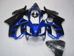 Wholesale Honda F4i Black - New 100% Fit Injection molding for HONDA CBR 600 F4i fairings 2004 2005 2006 2007 CBR600 F4i bodyworks 04 05 06 07 Cool hot blue vs black