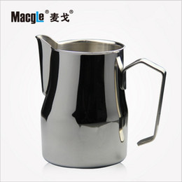 Wholesale Perfect Shop - Wholesale- new Macgle High Quality 700CC 500CC 350CC Stainless Steel Coffee Shop Espresso Milk Latte Art Frothing Jug Tamper Cup Perfect