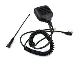 Wholesale Puxing Two Way Radios - Walkie Talkie Two way Radio Handheld Speaker Mic for Kenwood HT TK HYT PUXING QUANSHENG + universal Antenna