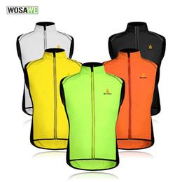 WOSAWE Ciclismo ropa deportiva hombres jerseys ropa reflectante abrigo de viento chaqueta transpirable bicicleta ciclo de la bicicleta chaleco sin mangas 5 COLORES desde fabricantes