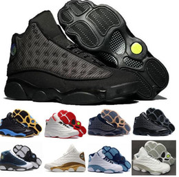 Wholesale Game Points - 2017 New Retro 13 OG Black Cat red Bred He Got Game Black Men Basketball Shoes 3M Reflect 13s Black Cat Athletics shoes