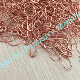 Wholesale Safety Craft Pins - 1000 pcs fashion rose gold bulb shaped safety pin good for garment tags, DIY craft, jewelry making
