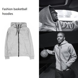 Wholesale sportwear for women - New Thin Basketball Sportwear Men Women Hoodies Sweatshirts Hoodie Tracksuit Black and Grey For Autumn Winter