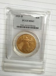 Wholesale Pcgs Box - Wholesale Hot Selling PCGS 1925-D MS63 GAUDENS TWENTY DOLLARS OR DOUBLE EAGLE Coin  FREE SHIPPING