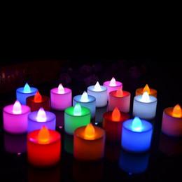 2019 il buco della serratura automatico ha condotto la luce Candela elettronica del mini candela di Natale della luce del tè della candela di colore della candela del mini del fiore di Natale
