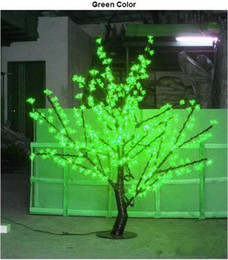 Wholesale Artificial Cherry Blossom Trees - wholesale LED Cherry Blossom Tree Light 480pcs LED Bulbs 1.5m Height 110 220VAC Seven Colors for Option free shipping