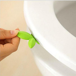 Wholesale Toilet Seat Cleaners - New Leaf Shape Toilet Seat Handle Seat Cover Lifter Avoid Touching Clean Style