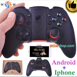 Wholesale Dual Joypad - Top Quality Bluetooth Gamepad Wireless 4.0 Joystick Dual Mode For Iphone or Android Samsung Bluetooth Game Controller Joypad