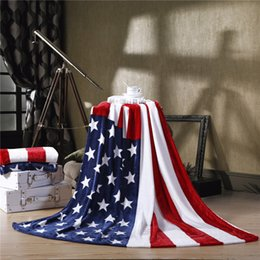 Wholesale British Blanket - 2016 High Quality Fashion Winter Warm Blanket British & American Flag Textile Fleece Blankets On Bed Travel Sofa Bed Blanket 150*200 CM