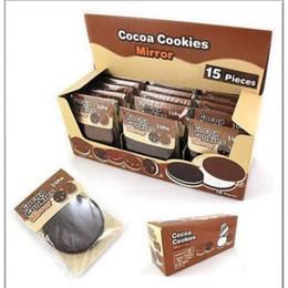 chocolat sandwich biscuit maquillage miroir chocolat portable miroir brun plastique chocolat biscuits outils de maquillage visage compact miroir peigne ? partir de fabricateur