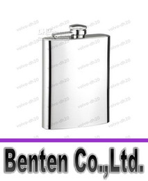 Wholesale wedding gift flask - Free shipping 8oz stainless steel flask,pocket flask , wine flask , liquor flask,wedding gift LLFA94