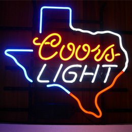 Coors occhiali online-17 * 14 pollici DIY Glass LED Neon Sign Flex corda luce indoor / outdoor Decorazione per Coors Light RGB Voltage 110V-240V