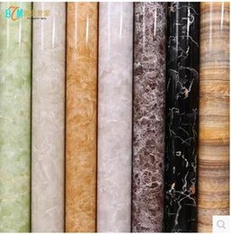 Wholesale Stickers Sheets For Kids - PVC self-adhesive wallpaper wallpaper thick marble furniture refurbished stickers waterproof cabinets stove Boeing soft sheet-441