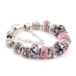 Wholesale Heart Bracele - 2017 new style bracelets for women charm Bracelets & Bangles for women gifts European Crystal Beads bracele