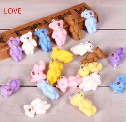 Wholesale Teddy For Sale - Wholesale-Hot sale 10PC 4cm Kawaii Mini Joint Bowtie Teddy Bear Plush Kids Toys Stuffed Dolls Wedding Gift For Children free shipping