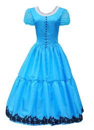 Wholesale Japanese Princess Costumes - Blue Princess Dress Halloween Cosplay Costume