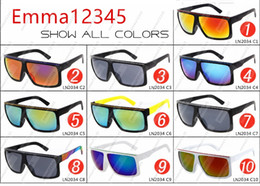 Wholesale Coloured Frame Sunglasses - Newest FAME 2034 fashion sunglasses dazzle colour mercury reflectors Big frame sunglasses frame sunglasses quality A++++