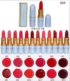 Wholesale Top Beauty Hot Sexy - Hot Selling Top 12 Different Colors Sexy Lipstick Waterproof long lasting moisturizing Lip Beauty Lip Gloss Makeup 120pcs lot