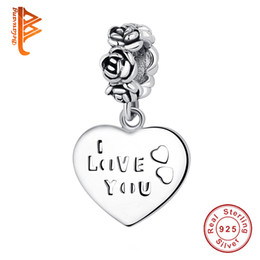 contas de letra dangle Desconto BELAWANG 925 Sterling Silver Dangle Charme com a Letra