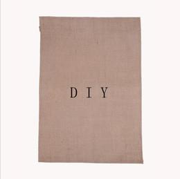 "Wholesale Fashion Print Ads - Fashion DIY Burlap Garden Flags 12""Wx18""H DIY Jute Liene Yard House Decorative Hanging Flag Courtyard Printed Ads Flags Free Ship"