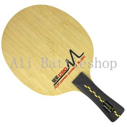 Wholesale Dhs Carbon - Hongshuangxi DHS Brand Table Tennis Rackets 5+2C Aseboard Layer Nice Feel Offensive Dipper Carbon Dm- C90
