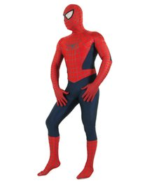 Wholesale Popular 3d Movies - Hot New 3D Printing Marvel Spiderman Cosplay Costume Adult Amazing Spiderman Lycra Jumpsuit Halloween Costumes The Most Popular Zentai Suit