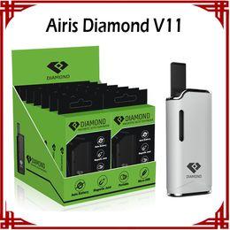 Wholesale wholesale pen display box - Original Airis Diamond V11 Vaporizer Kit 280mAh Auto Battery Mod Vape Pen Kits With G2 Thick Oil G2 Cartridges Display Box