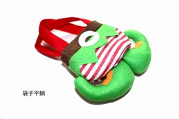 Wholesale Brown Boxing Gloves - Genius candy bags christmas socks decoration velvet gloves socks colorful whlolesale new style 028 best quanlity nice gifts