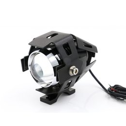 Wholesale Motorcycle Led Headlight Kits - 10W Waterproof Motorcycle LED Headlight 3000LMW Motorbike LED Driving Fog Spot Head Light Lamp w  switch