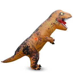 Wholesale teenage catsuit - Unisex Children T-Rex Inflatable Kids Costume Fancy Dress Halloween Cosplay Apparel