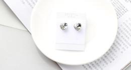Wholesale Gif Heart - BeBella crystal heart stud earrings made with Swarovski Elements for women 2016 gif