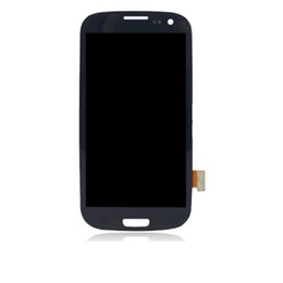 Wholesale Lcd Display S3 - For Samsung Galaxy S3 LCD screen display digitizer with high Original quality or Copy quality for i9300 9305 i747 T999 i535