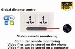 Wholesale Hd Video Format - HD 1080P Wifi Spy Camera Socket H.264 Format P2P Hidden Socket Camera Mini Camcorder Video Recorder Cam