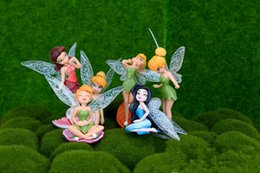 Wholesale Miniature Christmas Figures - 6pcs set Flower Fairy Figure Genius 10cm Garden Miniature Decorations Novelty Cartoon Cake Toppers Cute Garden Ornament Micro Landscaping