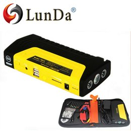 Wholesale Starting Power Vehicle - Wholesale-50800 mah. High capacity LUNDA car 'charger pack vehicle jump starter multi function auto start emergency power supply