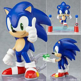 Wholesale Hot Action - NEW hot 10cm Q version Sonic the Hedgehog mobile action figure toys collection christmas toy doll