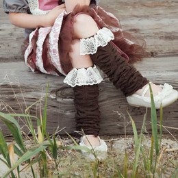Wholesale Lace Ruffle Leggings For Girls - Promotion Baby Girls Spring Autumn Socks Kids Lace Ruffle Leg Warmers 4colors Leggings for Photo Prop Cake Smash