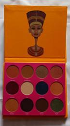Wholesale Women Professional Wear - High quality! Professional makeup 12 Color Fashion Women SAHARAN  Nubian 2 Yellow Eye Shadow Palette Makeup Matte Eyeshadow Palette