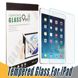 Wholesale Air Films - 9H Tempered Glass Screen Protector Anti Shatter Screen Protector Film For iPad 5 6 Air Pro 2017 Mini 2 3 4