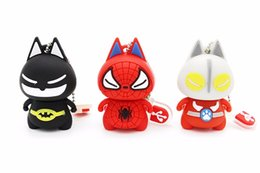 Wholesale Good Usb Drive - 1GB 2GB 4GB 16GB Good Gift PVC USB 2.0 Pendrive High Speed Cartoon 8GB USB Flash Drive Batman Spiderman
