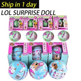 Wholesale Unisex Dresses - New LOL SURPRISE DOLL Unpacking Dolls Dress Up Toys baby Tear open change egg dolls can spray toys OTH646