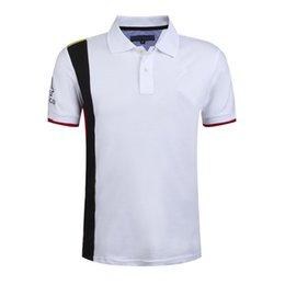 Wholesale Contrast Dress Men - 2016 New Summe Men T-Shirt Dress With Short Sleeves Solid 100% Cotton Blend Color Shirt Business Casual Shirt Cotton Sportswear