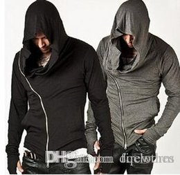 Wholesale Matching Sweats - Autumn And Winter Assassin's Creed Oblique Zipper Outdoor Sports Hoodies Sweater Men And Women Fleece Classic All-match Cardigan Sweats