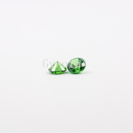 Wholesale Gemstone Heating - free shipping 100pcs lot 6mm-8.25mm AAA cubic zirconia green round CZ Synthetic Gemstones Wholesale