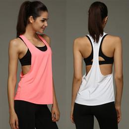 Wholesale Sport Sleeveless For Women - Summer Sexy Women Tank Tops Quick Dry Loose Gym Fitness Sport Sleeveless Vest Singlet for Running Training T-shirt