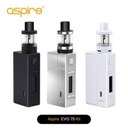 Wholesale Mod Full - Authentic Aspire Evo75 Full Kit Include Two Vaping Heavy Hitters NX75-Z Mod & Atlantis EVO Tank Can Customizable Firing Button Profiles